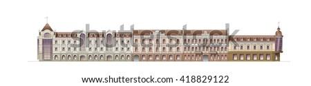 Architecture facade house - stock photo