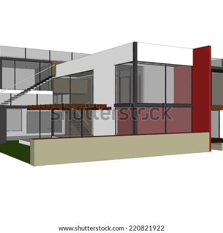 architecture house building sketch