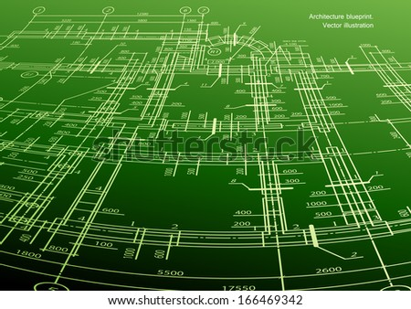 Architecture house plan background - stock photo