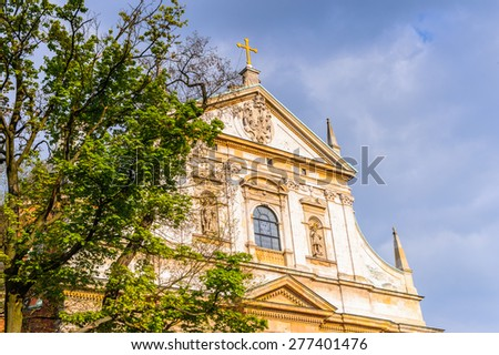 Architecture in the Old town of Krakow, Poland - stock photo