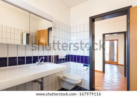Architecture, interior house, nice bathroom - stock photo