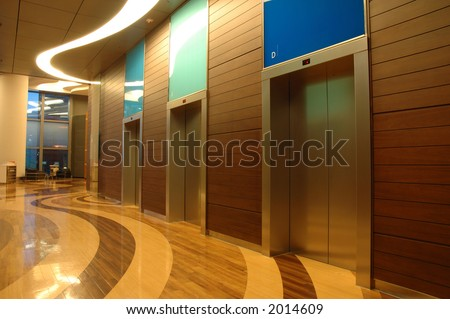 Architecture interior of a modern business building - stock photo