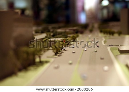 architecture model - stock photo