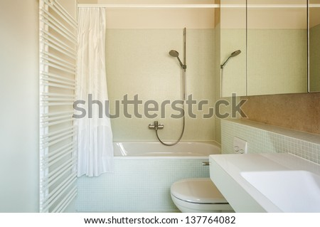 architecture modern design, interior, bathroom - stock photo