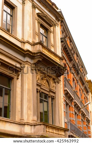 Architecture of Brussels, Belgium.