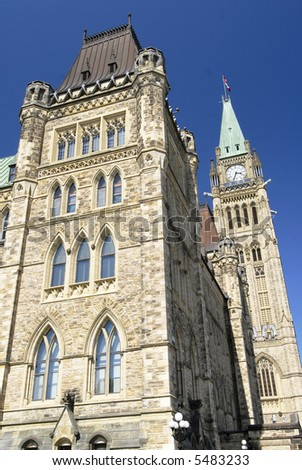 Architecture Of Canada'S Parliament Building - stock photo