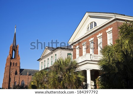 Architecture of Charleston, South Carolina, USA - stock photo