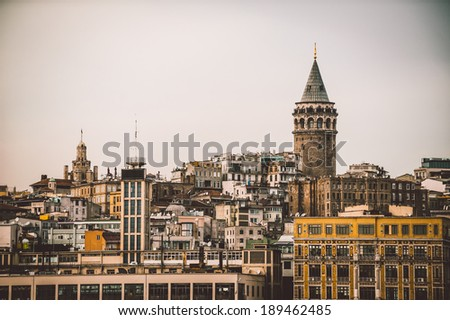 Architecture of Istanbul and Galata Tower