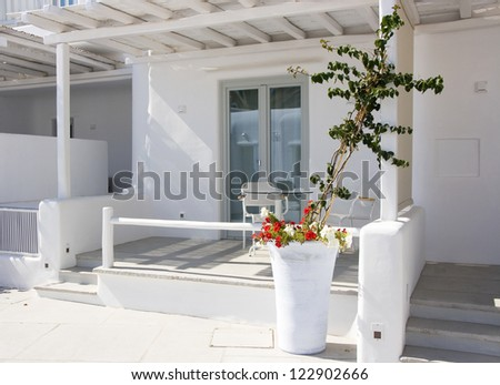 Architecture of Myconos town on Mykonos island, Kyklades Greece