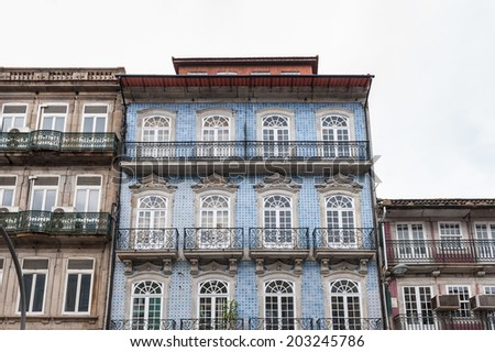 Architecture of Porto, Portugal. Porto is the second largest city in Portugal and it was called the European Culture Capital in 2001