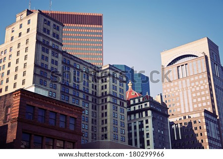 Architecture of the center of Pittsburgh, Pennsylvania, USA - stock photo