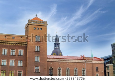 Architecture of the Old Town of Riga, Latvia - stock photo