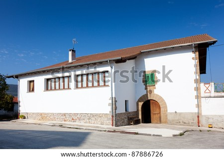 Architecture of Ultzama, Navarra, Spain