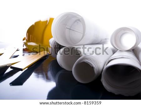 Architecture plan - stock photo