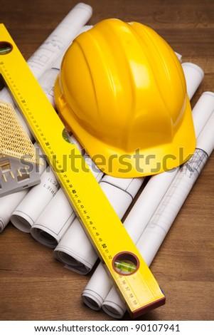 Architecture plans - stock photo