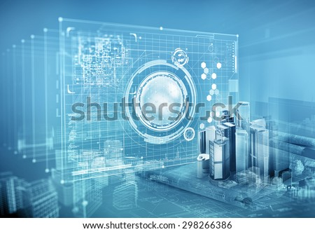 architecture project - stock photo
