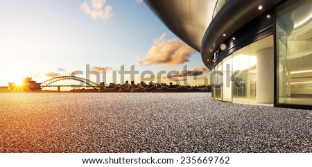 architecture with sydney cityscape background. - stock photo