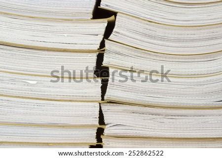 Archival background - a pile of archival documents - stock photo