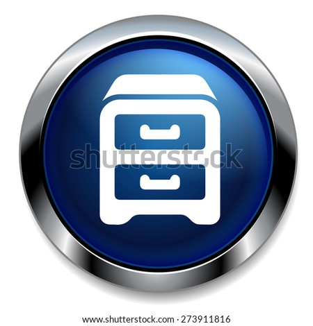 Archive  business  cabinet icon - stock photo