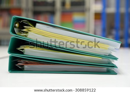 Archive files,For filing and searching for documents. - stock photo