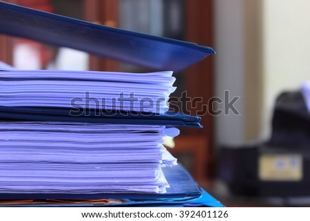 archive important files and data files are located on the table - stock photo