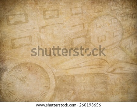 Archive or museum worn paper background - stock photo