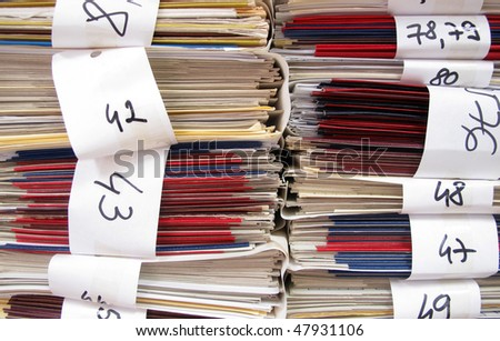 Archives documents files and folders - stock photo