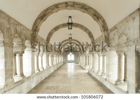 Archway at Fisherman's Bastion, Budapest, Hungary