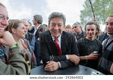 ARCUEIL, FRANCE - SEPTEMBER 17, 2011 : Jean-Luc Melenchon in the Fete de l'Humanite, french political festival