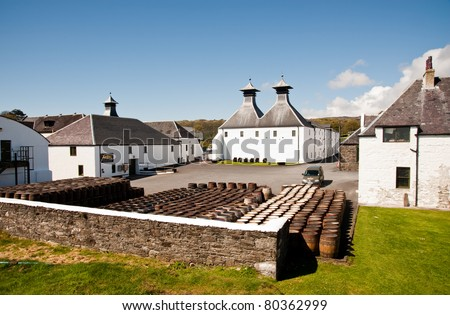 Ardbeg distillery on Islay - stock photo