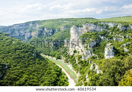 Ardeche Gorge, Rhone-Alpes, France