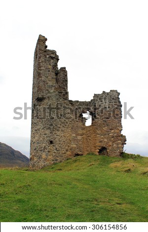 Ardvreck Castle - Sutherland - Scotland - stock photo