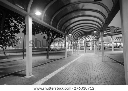 Area of Central district of Hong Kong - stock photo
