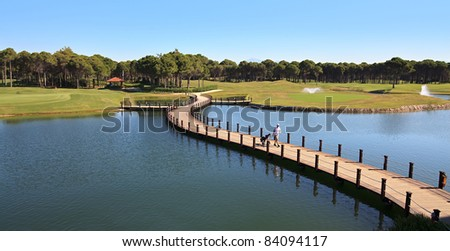 Area of Sueno Golf Club. Belek. Turkey. - stock photo