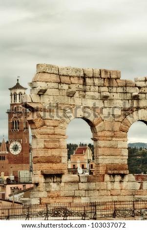 Arena of Verona, Italy - stock photo
