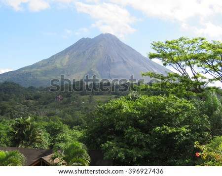 Arenal Volcano - Costa Rica - stock photo