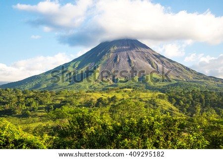 Arenal volcano. Costa Rica - stock photo