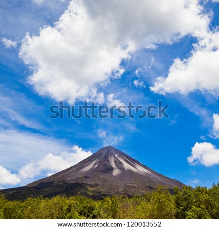 Arenal Volcano in Costa Rica. - stock photo