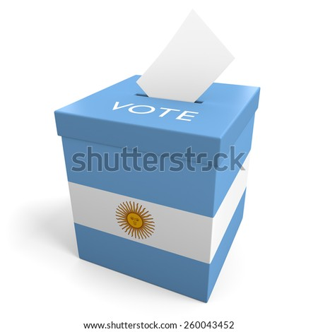Argentina election ballot box for collecting votes - stock photo