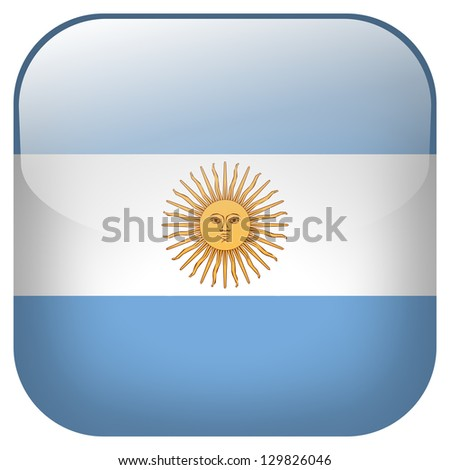 Argentina flag button - stock photo