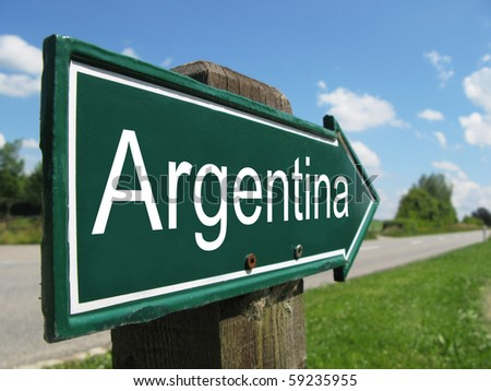 ARGENTINA road sign - stock photo