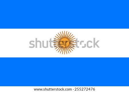 Argentinian flag - stock photo