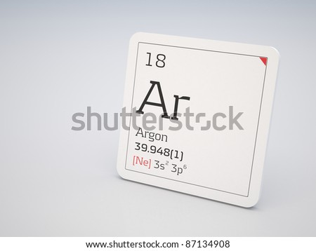 Argon - element of the periodic table - stock photo