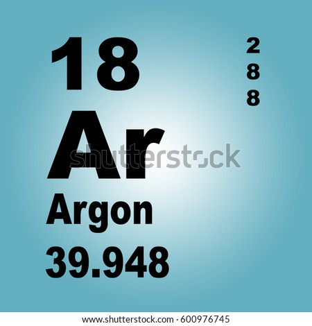 Argon Periodic Table Elements Stock Illustration 600976745