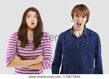 Argument.Relationship difficulties - stock photo