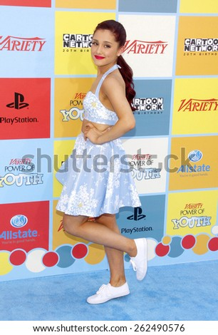 Ariana Grande at the Variety's 6th Annual Power Of Youth held at the Paramount Studios in Hollywood on September 15, 2012.  - stock photo
