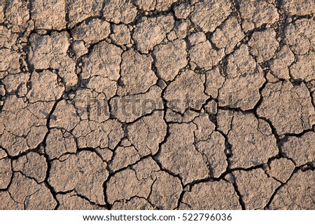 arid region, cracked dry earth, dried clay, drought in the soil
