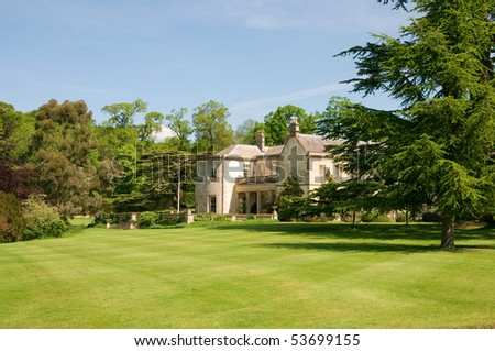 Aristocratic country house in England - stock photo
