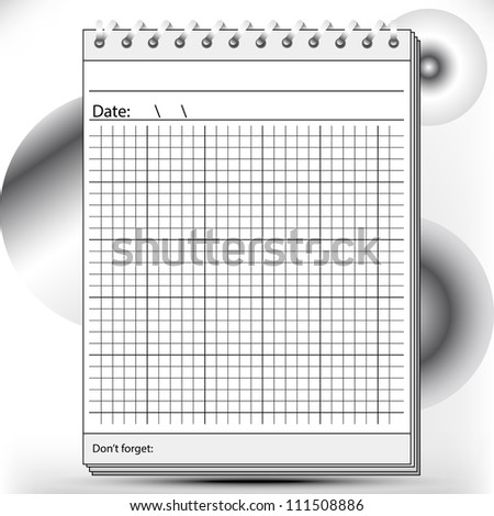 Arithmetic Block notes in black and white shades - stock photo