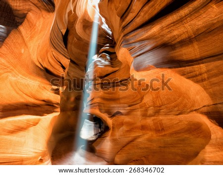 Arizona Antelope Canyon Navajo wonderful light - stock photo